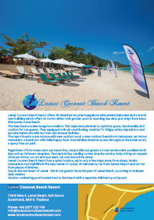 Lamai Coconut Beach Resort - Fact Sheet